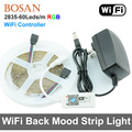 SMD 2835 RGB LED Strip Light 60leds/m Waterproof 300 LEDs 5M Flexible Tape Kit +WiFi Controller+DC12V Power Supply Adapter