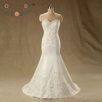 Slim Lace Mermaid Wedding Dress With Lace Hem Lace Appliqued Destination Wedding Dresses Vestidos De Noiva