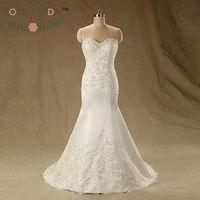 Slim Lace Mermaid Wedding Dress With Lace Hem Lace Appliqued Destination Wedding Dresses Vestidos De Noiva