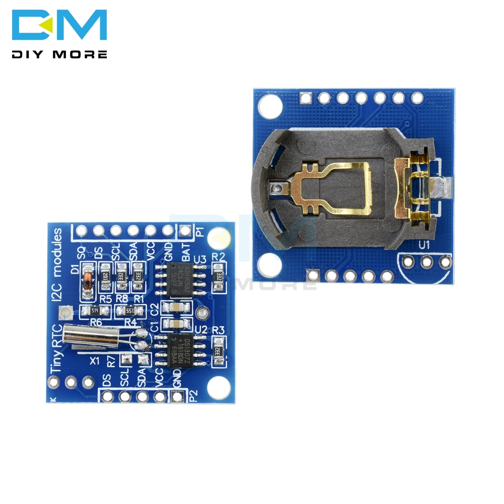 IIC I2C RTC DS1307 AT24C32 Real Time Clock Module Board For Arduino 51 AVR ARM PIC Module For Arduino UNO Without Battery