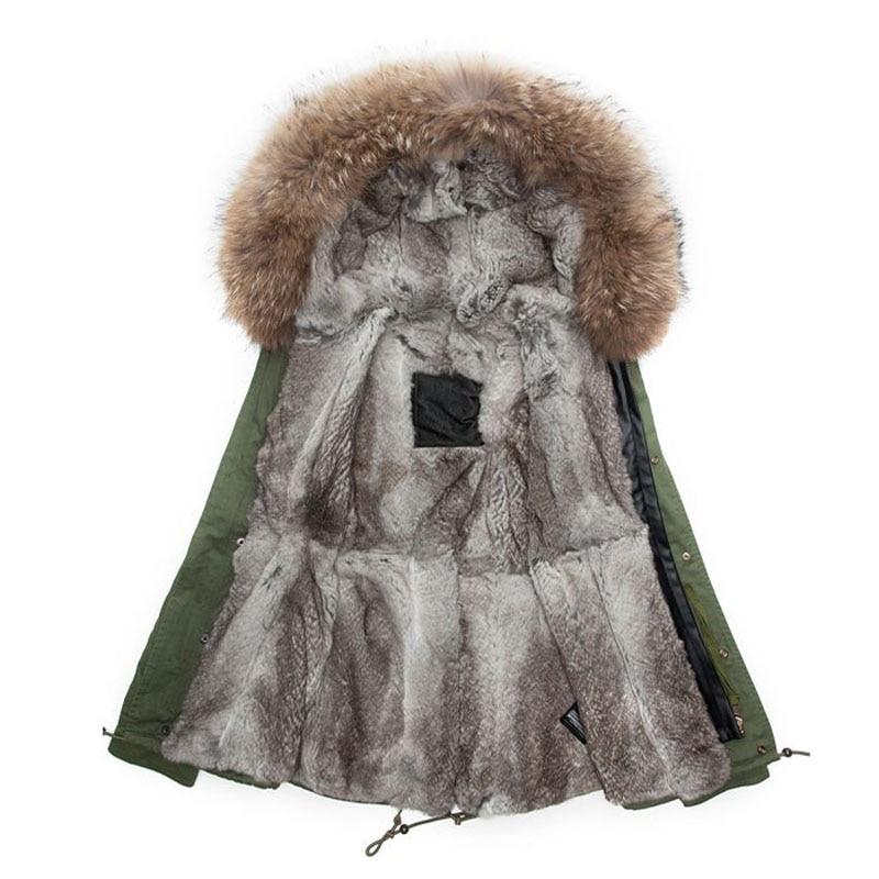 Rabbit Parka Size Inverno Cappotti Maschile Rex Con Fur Plus EWpUqCE