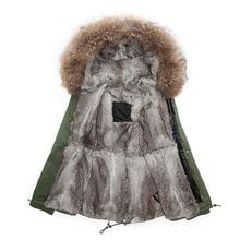 Plus Size Rex Rabbit Fur Parka Male Coats Winter Parkas Hooded Thicked Slim Jacket Male Outwear Mr  Mrs Army Green furs coat