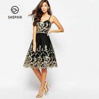Deep V Strap Sexy Dress Sleeveless Backless Party Club Dress Solid Black E3legant Wedding Short Dress