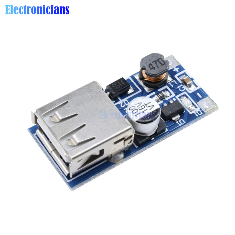 DC DC 0.9V-5V to 5V 600MA Power Bank Charger Step Up Boost Converter Supply Voltage Module USB Output Charging Circuit image