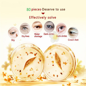 Image 4 - 80 pçs osmanthus máscara de olho feminino colágeno gel soro de leite proteína olho cuidados com a pele remendos de sono saúde mascaras de dormir anti rugas