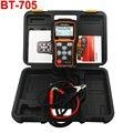 12 V 24 V Carro Bateria Analyzer Tester Ferramenta de Diagnóstico Do Sistema de saúde Regular Inundada Bateria AGM GEL Tipo BT705 Foxwell analisador