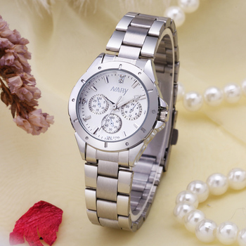 NARY นาฬิกาแฟชั่นผู้หญิงนาฬิกาหรู Reloj Mujer สแตนเลสคุณภาพเพชร Ladies นาฬิกาควอตซ์ผู้หญิงนาฬิกา Rhinestone