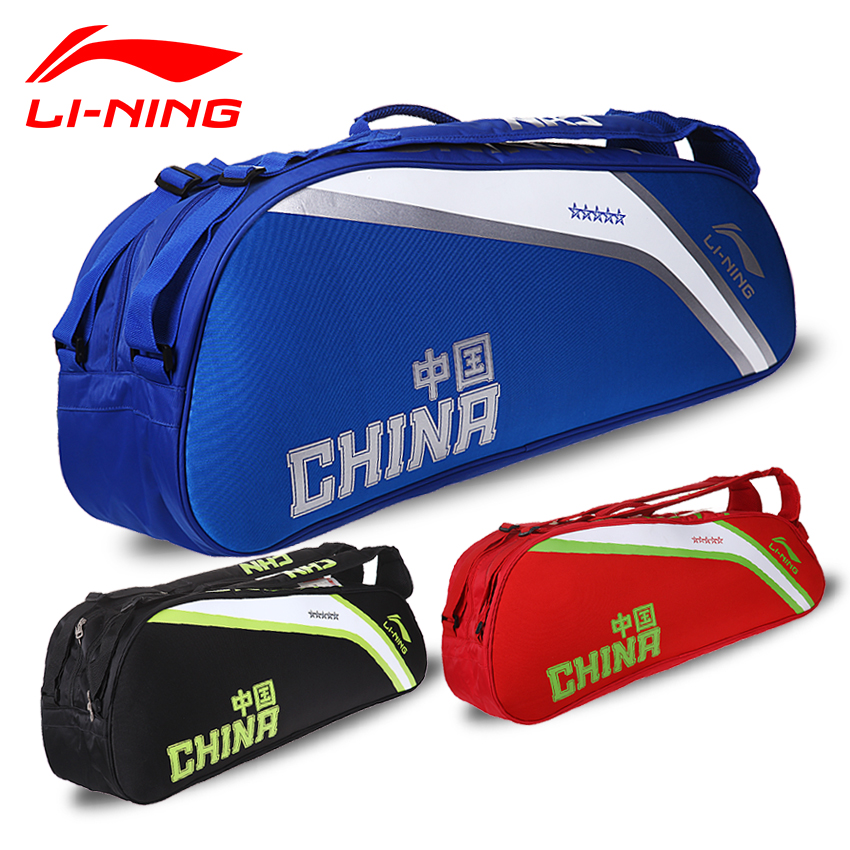 Lining 6 Load Badminton Rackets Bag ABJJ008 Li Ning Professional Sports Athletic Racquet Li-Ning Backpack for Men and Women Bags original li ning men professional basketball shoes