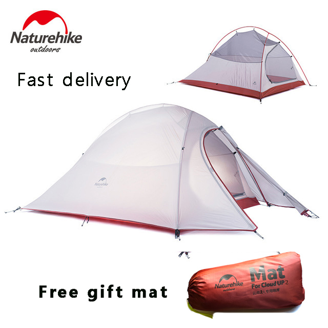2018 DHL free shipping NatureHike Cloud Up Series 2 Person Tent ultralight 20D Silicone Fabric Tents Camping Tent Outdoor Tent naturehike factory store 2 person tent 20d silicone fabric double layer camping tent lightweight only 1 24kg dhl free shipping