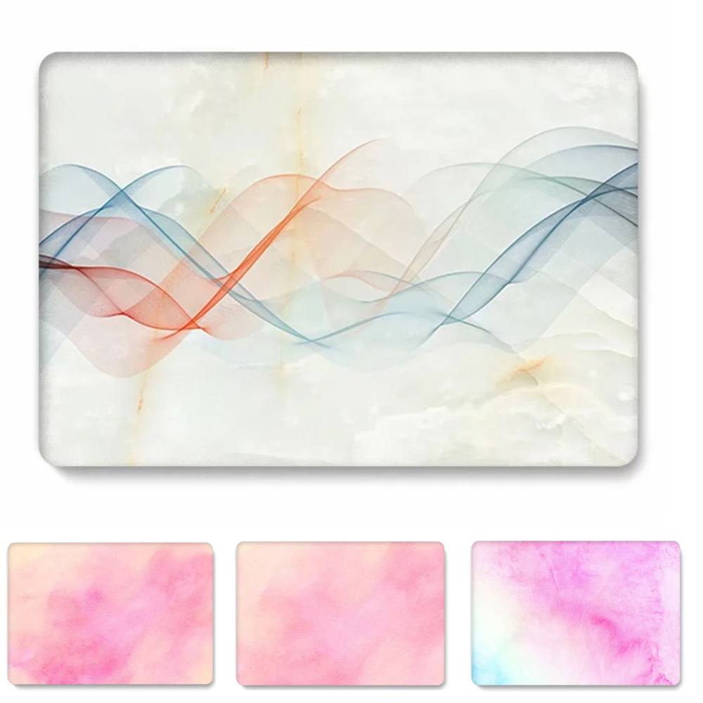 Printed Pattern Shell Cover Laptop Case For Apple Mac MacBook Air Pro Retina 11 12 13 15 with Touch Bar Fashion Bag Sleeve