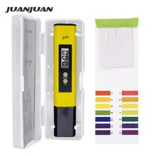 Digital PH Meter Water Quality Tester Range 0-14 for Household Drinking Pool Water+PH 1-14 Litmus Paper Portable strips 40%off