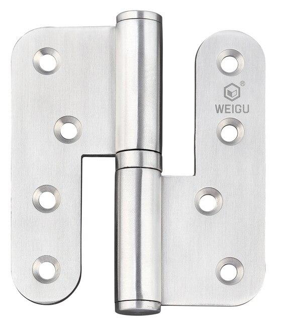 Door Hardware High Quality Door Hinge Lift Off Material SS 1 Pair  (100mm*89mm