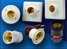 E27 светодиодные лампы держатель базы розетка электропитания открытой или скрытой установки