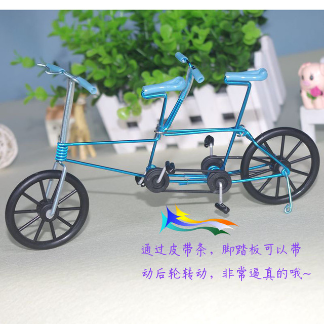 Mini Bike Model Color Aluminum Wire Tandem Bicycle Lovers Making