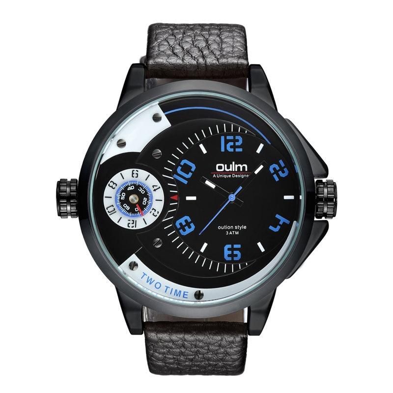 Oulm Men Wrist Watch Sport Men Watches Fashion Quartz Watch Luminous Waterproof Watch Men Multifunction fantastic watch men 1pc men