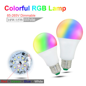 Image 3 - E27 E14 LED הנורה RGB מנורת 110V 220V 3W 5W 10W 15W RGBW RGBWW RGB LED אור הנורה 16 צבעים עם שלט רחוק IR שינה דקור
