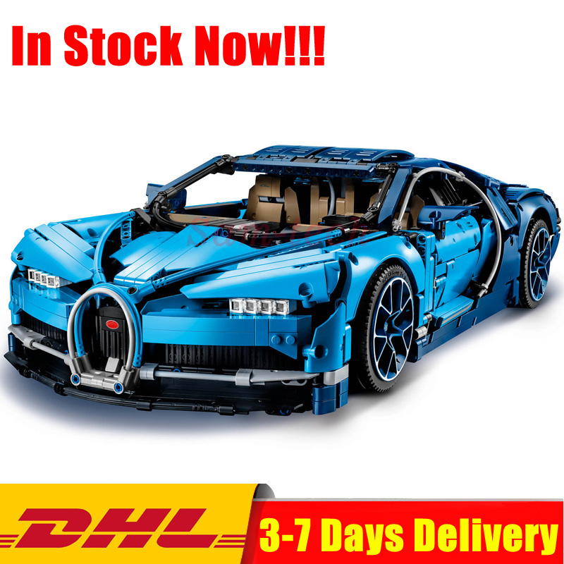 IN Stock DHL Legoingly 42083 Technic Series Blue Bugatti Chiron Racing Car Building Blocks Bricks Toys for Children Gift