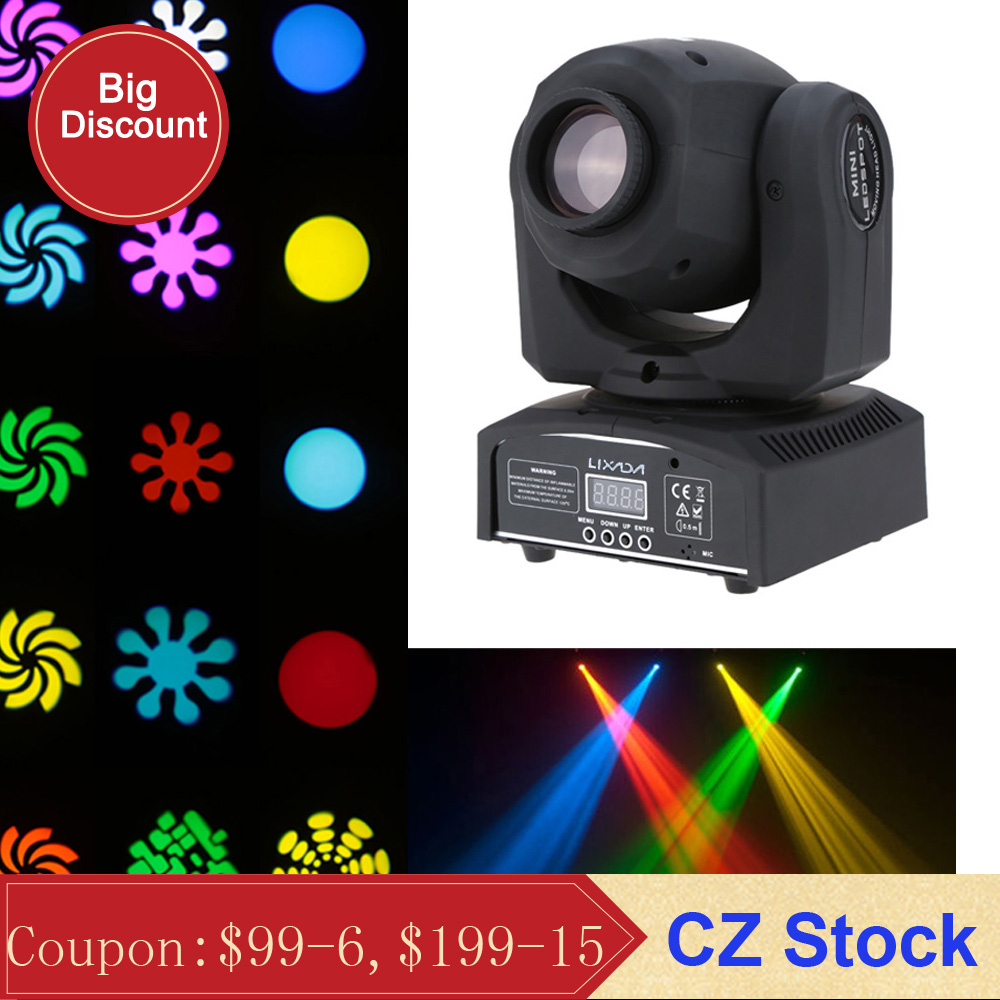 Dmx512 Mini Moving Head Light 8 colors Led Stage Light Automatic 9 11 Channel Party Disco