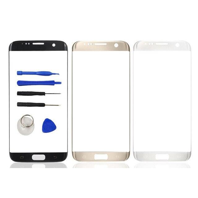 Оригинальный Новый Замена ЖК-Передняя Сенсорный Экран Внешний Стекло Объектива для Samsung Galaxy S7 Edge G935F С Логотипом Стикер Инструмент комплекты