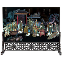 Decoration Arts Crafts Girl Gifts Get Married Mailing Wooden Wooden Lacquer Screen Chinese Wind Decorations Public
