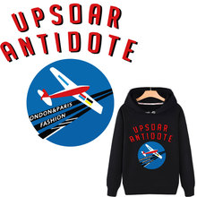 airplane letter patches for clothes space planet cloth stickers iron on transfer boy man t-shirt hoodies diy accessory patch