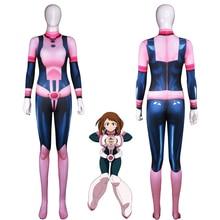 Косплей костюм героя японского аниме «очако урарака», костюм боевой формы, карнавальный костюм на Хэллоуин