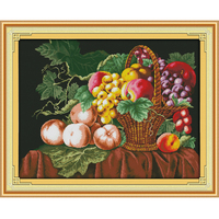 Joy Sunday DIY Home Decor Chinese Cross Stitch Embroidery Fruit Pattern Stamped Counted Chinese Cross Stitch Kit Home Decorative