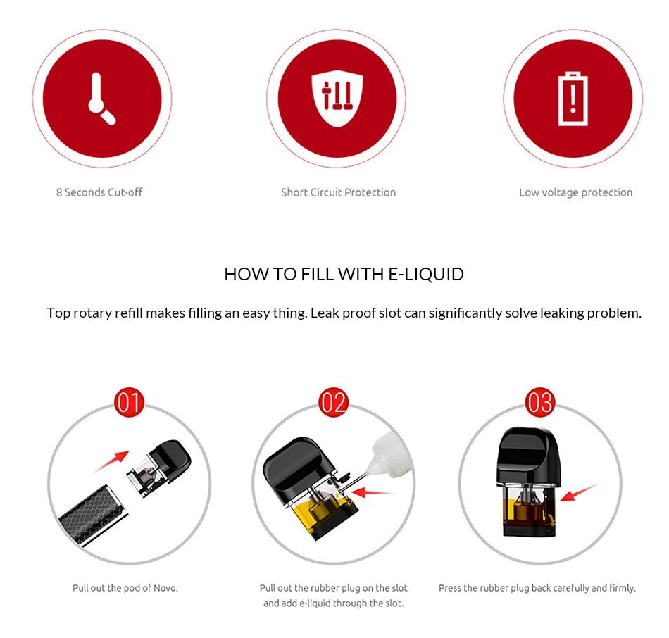 SMOK Original Novo Kit built-in 450mAh Battery For Electronic cigarette pod  vape pen vs nord