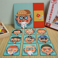3D Magnetic Character Facial Features Assemble Model Funny Educational Toys For Kids Magnetic Stickers Board For Gift Easel Kit