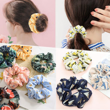 Korean Print Exquesite High Quality Elasticity Graceful Hair Rope Heart Sale Gifts Flower 1PC Unique 12 Colors Beautiful(China)