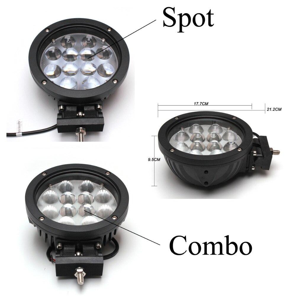 1шт 60W автомобиля СИД Cree свет работы для индикаторы мотоцикл вождения для бездорожья лодка автомобиль Трактор грузовик внедорожник ATV комбо/спот Лампа 12В 24В