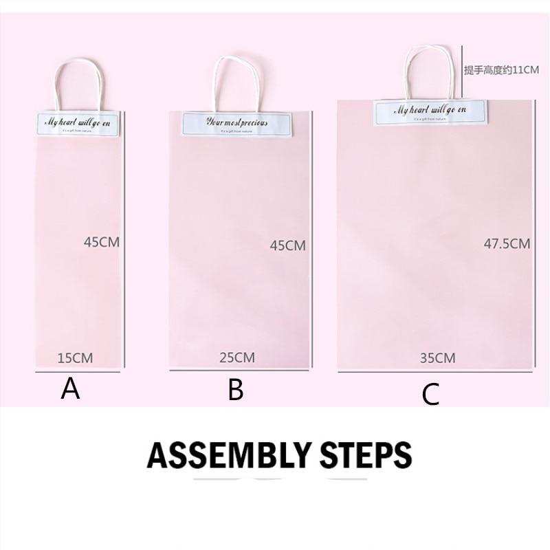 10 шт цветочное украшение большая сумка-тоут Цветочная сумка для букета прозрачная подарочная сумка Упаковка Цветочный декор Цветочная подарочная упаковка сумка