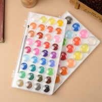 Superior 12/16/28/36 juego de pigmentos de Color sólido pluma de Color de agua paleta de pinceles pintura creativa brillante para colorear arte suministros