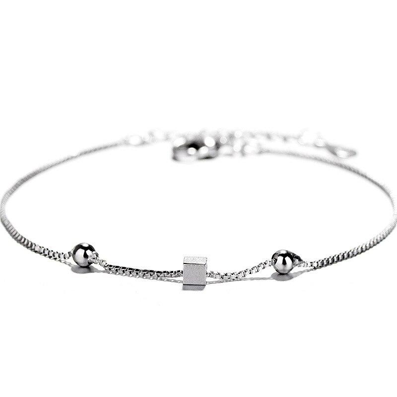 TSHOU92 Semplice spazzolato piazza braccialetto femminile stella geometrica della catena della scatola di gioielli a manoTSHOU92 Semplice spazzolato piazza braccialetto femminile stella geometrica della catena della scatola di gioielli a mano