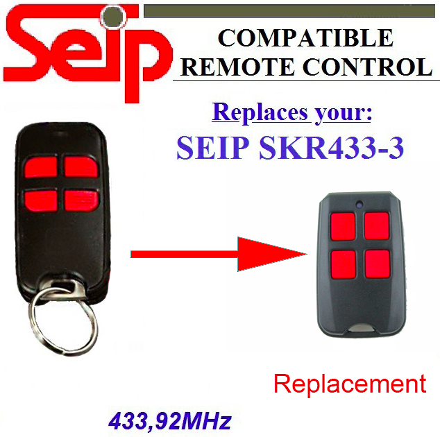 20pcs Seip SKR433-3 replacement 433mhz remote DHL free shipping 50pcs seip skr433 3 garage door replacement 433mhz remote dhl free shipping