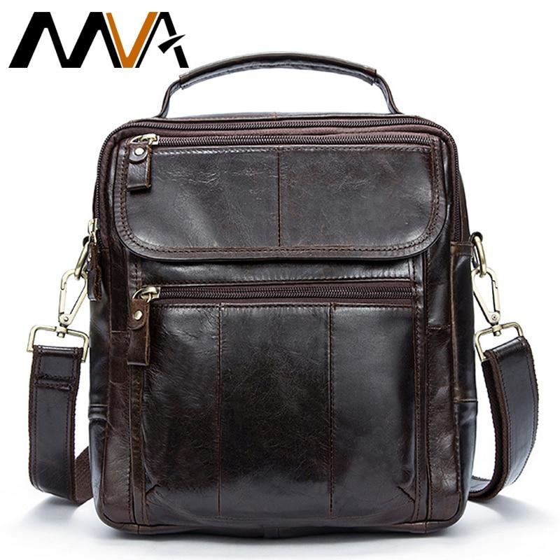 MVA Messenger Bag Herr Axelväska Man Original Läder Mäns Väskor Man Small Flap Casual Crossbody Väskor för Herr Handväskor 8870