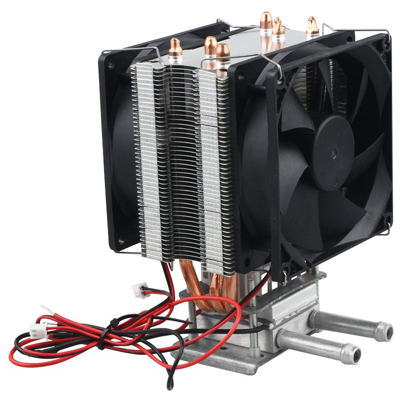 Thermoelectric Peltier Refrigeration DIY Water Cooling System Cooler Device 12V in Fans Cooling from Computer Office
