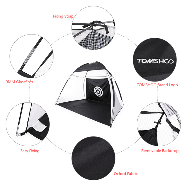 TOMSHOO 10′ Portable Golf Training Net