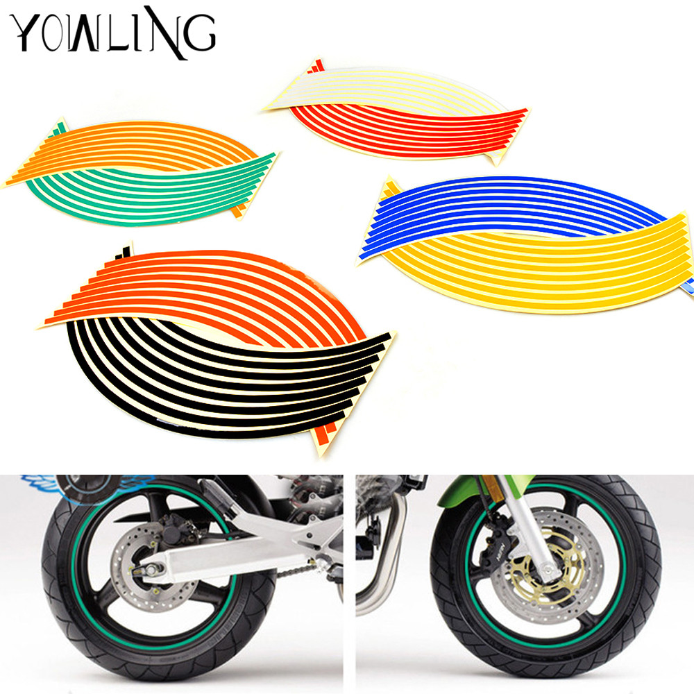 16 Strips New! Strips Wheel Stickers And Decals <font><b>14</b></font>