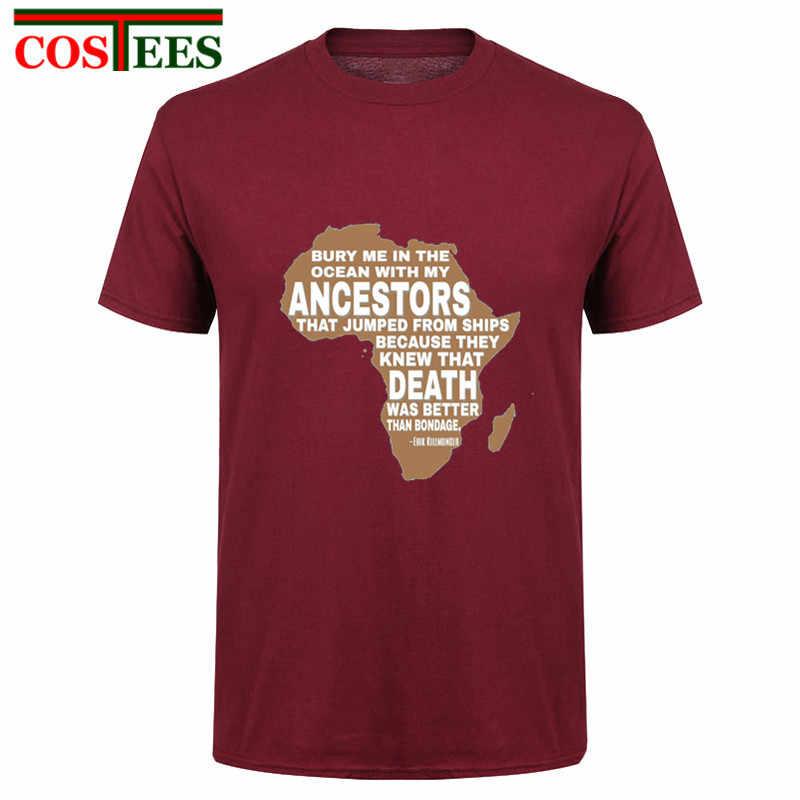 08b350694b54 Vintage Africa Map T shirt men Black Panther T Shirts BURY ME IN THE OCEAN T
