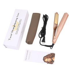 Profession 2 in 1 Twist Hair Curling & Straightening Iron Hair Straightener Hair Curler Wet & Dry Flat Iron Hair Styler Dropship