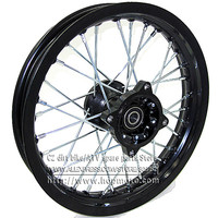 Black Dirt Bike Pit Bike Front 12 Inch Rims 12 For Small Off Road Motorcross CRF