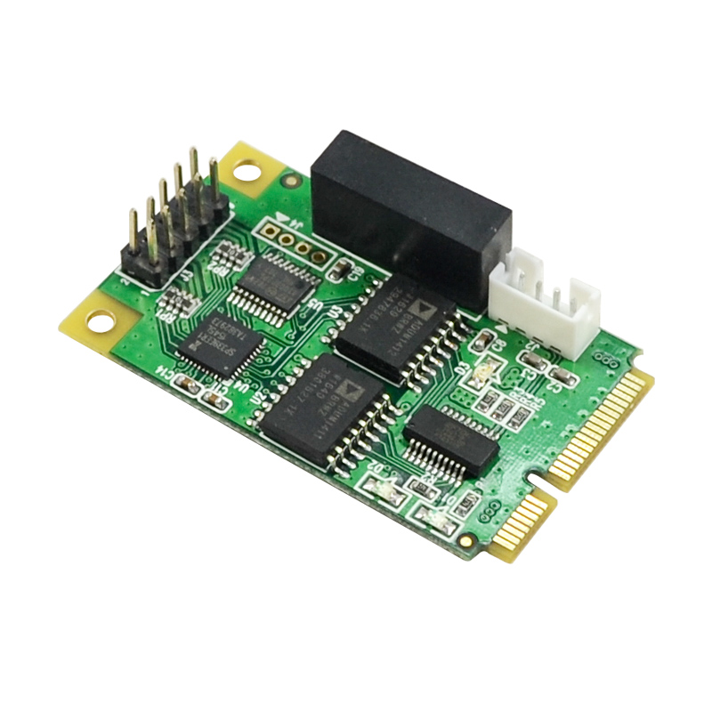 MINI PCI-E to RS232 RS422 RS485 Serial Card Minipcie (USB protocol) Surge Electrostatic Protection Multi Function Expansion Card pcie to 8 port rs232 serial expansion card 15kv esd 200w voltage surge protect