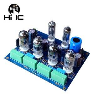 Image 1 - Oliwkowe wzmacniacze lampowe HiFi karta audio Amplificador przedwzmacniacz mikser audio 6Z4*2 + 12AU7*2 + 12AX7*2 przedwzmacniacz zaworu bufor żółciowy