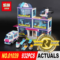 Lepin 01039 932Pcs Genuine Girl Series The Heartlake Hospital Set 41318 Building Blocks Self Locking Bricks