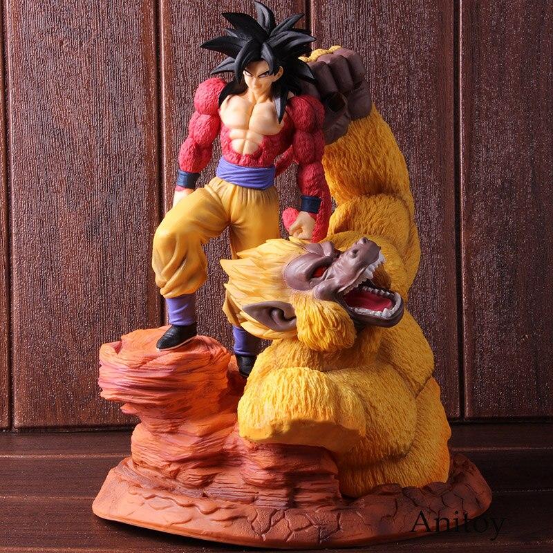 Dragon Ball Z Goku Super Saiyan 4 fils Gokou or grands singes scène Statue PVC Dragon Ball Action Figure à collectionner modèle jouet