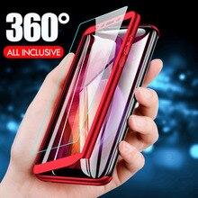 H & A 360 Tam Koruyucu xiaomi için telefon kılıfı Redmi Not 5 6 Pro 7 Anti-vurmak Tam Kapak Redmi Için not 7 Kılıfları Ile Cam F...
