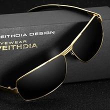 New llegada veithdia polarizadas gafas de sol de los hombres diseñador de la marca de la vendimia masculina gafas de sol gafas gafas de sol masculino