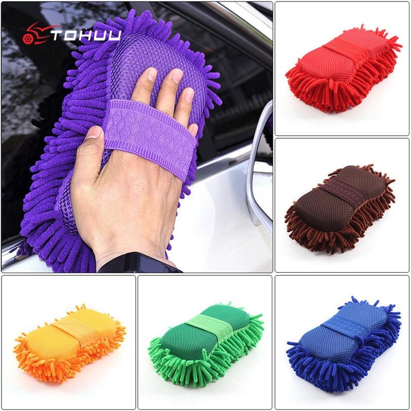 Super Car Wash Glove Car Hand Soft Towel Microfiber Chenille Car Cleaning Sponge Block Car Washing Supplies 60 x 30cm multi functional microfiber nanometer car washing hand towel blue