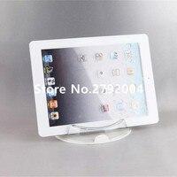 Akryl wyświetlacz bezpieczeństwa stoiska Ipad tablet holder okrągły wyczyść bazą dla firmy apple samsung sklep tablet pc